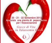 locandina AssoTutela 20-21-22 settembre Peperoncini per l'associazione gocce di vita RGB