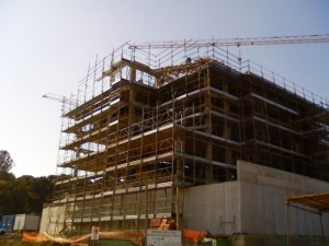 palazzi in costruzione