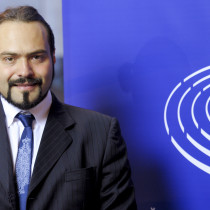 Portraits of MEP Fabio Massimo CASTALDO in Strasbourg