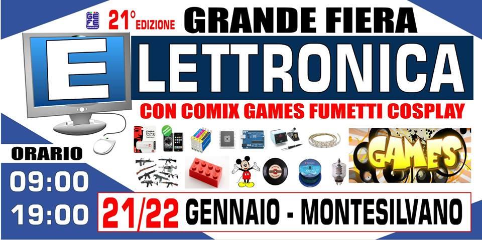 Torna domani e domenica a montesilvano pe presso il pala for Fiera elettronica 2017