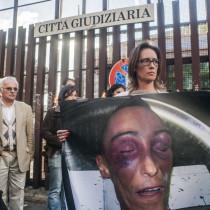 03/11/2014 Roma, la famiglia Cucchi viene ricevuta dal procuratore di Roma, nella foto Ilaria Cucchi