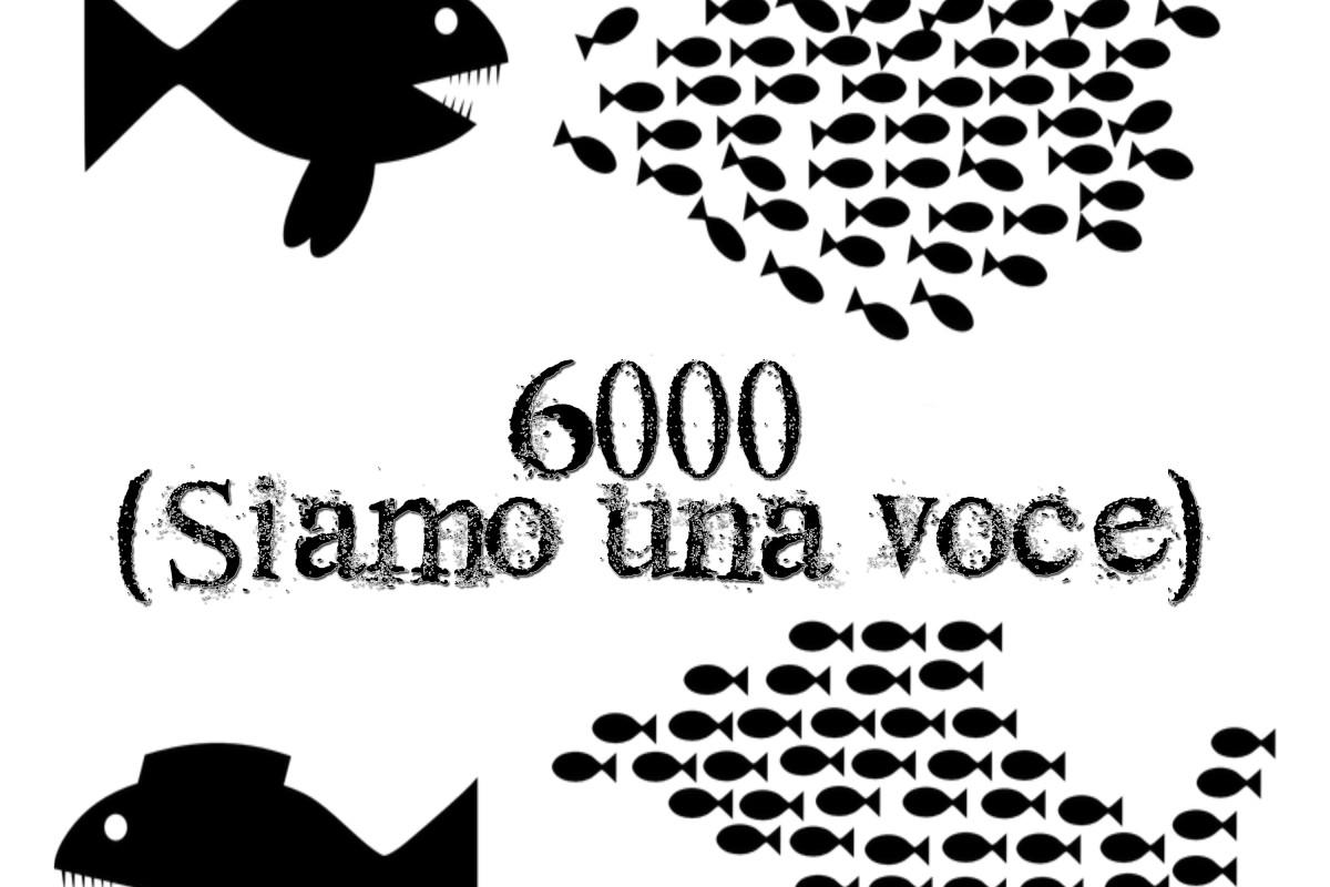 6000 (siamo una voce) COPERTINA
