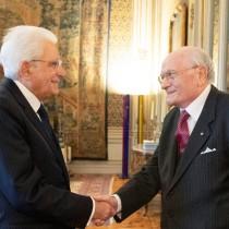 Il Presidente della Repubblica Italiana Mattarella con Squitieri
